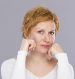 Portrait of forty years woman Royalty Free Stock Images