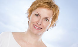 Portrait of forty years woman Stock Photo