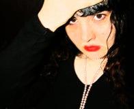 Portrait-Foto und vektormischung Lizenzfreies Stockfoto
