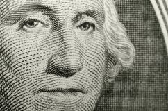 Image of American icon, George Washington, from the obverse of the US dollar. . royalty free illustration