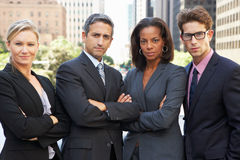 Portrait Of Four Business Colleagues Outside Office Royalty Free Stock Image