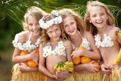 Portrait of four girls Royalty Free Stock Photo