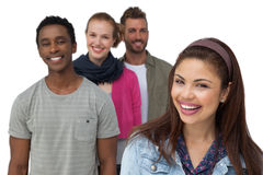 Portrait of four happy young friends Stock Image