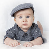 Portrait of four months old baby boy Stock Photos
