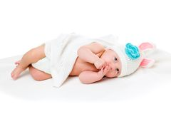 Portrait of a four months old baby Royalty Free Stock Photo
