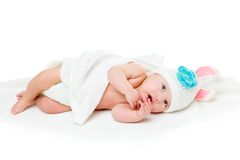Portrait of a four months old baby Stock Photos