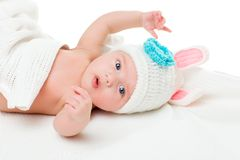 Portrait of a four months old baby Stock Photo