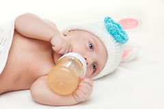 Portrait of a four months old baby Royalty Free Stock Photography