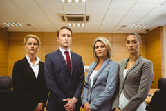 Portrait of four well-dressed lawyer Royalty Free Stock Photography