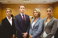 Portrait of four well-dressed lawyer Stock Images