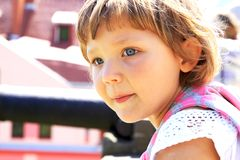 Portrait four years old girl Royalty Free Stock Photo