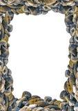 Portrait Frame with Rocks Borders. White frame background with rock photo borders Stock Photography