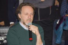Portrait francesco bruni director and scriptwriter. Francesco bruni talking european film festival royalty free stock images