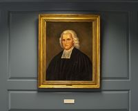 Portrait of Francis Alison by unknown artist in the Presbyterian Historical Society. Pictured is a portrait of Francis Alison by an unknown artist, in the royalty free stock photos