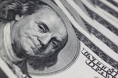 Portrait of Franklin. On one hundred dollars banknote Royalty Free Stock Image