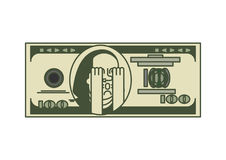 Portrait Franklin du dollar OMG Argent des Etats-Unis Devise américaine Oh illustration de vecteur