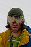 Portrait of freerider. In Caucasus Mountains. Summer, 2010 Royalty Free Stock Photos