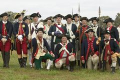 Portrait of French and Patriot Revolutionary re-enactors as part of the 225th Anniversary of the Siege of Yorktown, Virginia, 1781 Stock Images