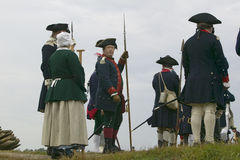 Portrait of French and Patriot Revolutionary re-enactors as part of the 225th Anniversary of the Siege of Yorktown, Virginia, 1781. Ending the American Stock Images