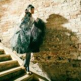 Portrait of a fresh beautiful fashion sexy mod. Royalty Free Stock Photo