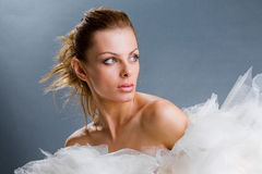 Portrait fresh and beautiful young fashion model Royalty Free Stock Images