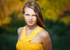 Portrait of a fresh and beautiful young model Royalty Free Stock Image