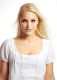 Portrait of Fresh Looking Blonde Female Stock Photo