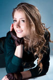 Portrait of a fresh and lovely woman Royalty Free Stock Photography