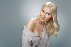 Portrait of the fresh young blonde. Portrait of the fresh young blond lady Stock Photography