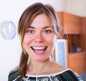 Portrait of friendly brunette girl Stock Image