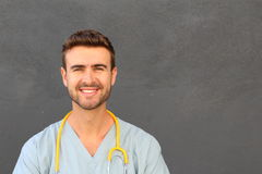 Portrait of a friendly doctor smiling Stock Image