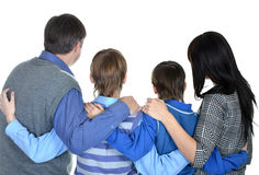 Portrait of friendly family of four Royalty Free Stock Photos