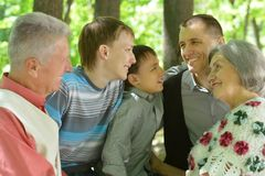 Portrait of friendly family Stock Images