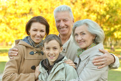 Portrait of friendly family Royalty Free Stock Photos