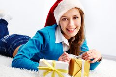 Santa teenager Royalty Free Stock Images