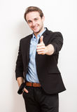 Portrait of a friendly handsome young man. Stock Image