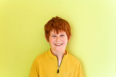 Portrait of friendly looking boy Stock Photography