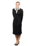 Portrait of friendly young air hostess Stock Image