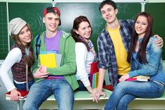Portrait of friends- teens Royalty Free Stock Photos