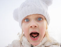 Portrait of frightened child Royalty Free Stock Image