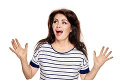Frustrated woman screaming Royalty Free Stock Image