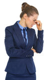 Portrait of frustrated business woman Royalty Free Stock Photography