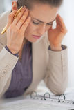 Portrait of frustrated business woman Royalty Free Stock Images