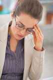 Portrait of frustrated business woman  in office Royalty Free Stock Photos