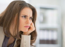 Portrait of frustrated business woman Royalty Free Stock Photo