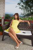 Portrait of full body female model Stock Images