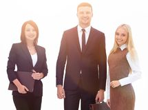 Portrait in full growth. professional business team. Business concept royalty free stock image