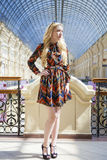 Portrait full length of young beautiful woman Stock Photos