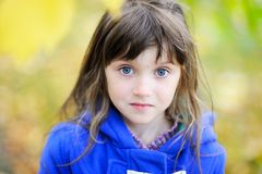 Portrait of funky little child girl Stock Photos