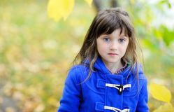 Portrait of funky little child girl Stock Photo